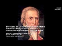 Proclama de Don Pascual Ruiz Huidobro, Gobernador Militar y Político de Montevideo